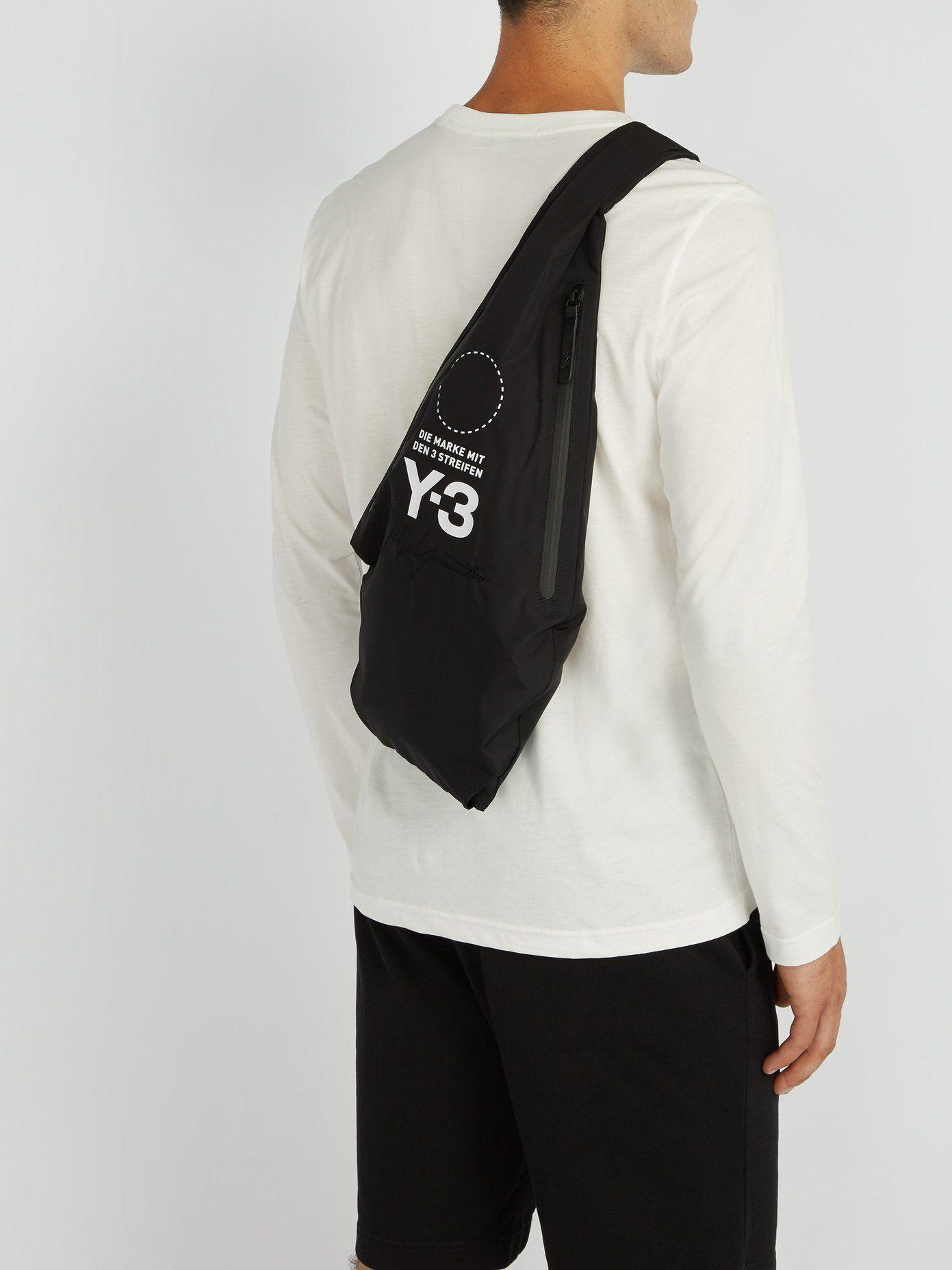 86f9b4487 Yohji Signature nylon cross-body bag   Y-3   MATCHESFASHION.COM UK ...