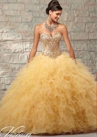 Vestido De Quinceañera 89038 Vestidos De 15 Dorados Vestidos De Quinceañera Vestido De Quinceañera