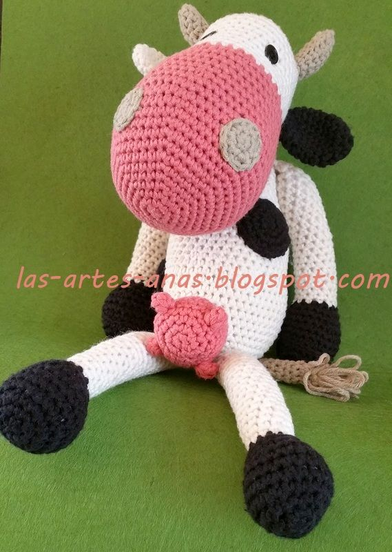 Vaca amigurumi, ¡sigue el patrón! | Pinterest | Amigurumi patrones ...