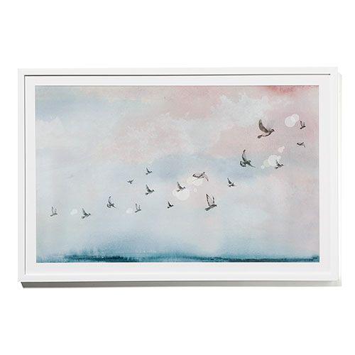 Framed Watercolour Print Flying Home