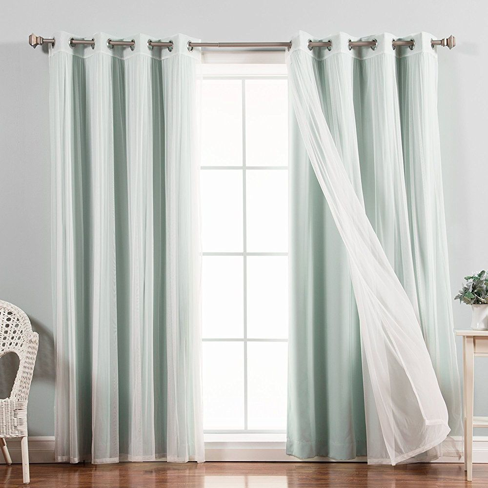 S Bedroom White Sheer Curtains