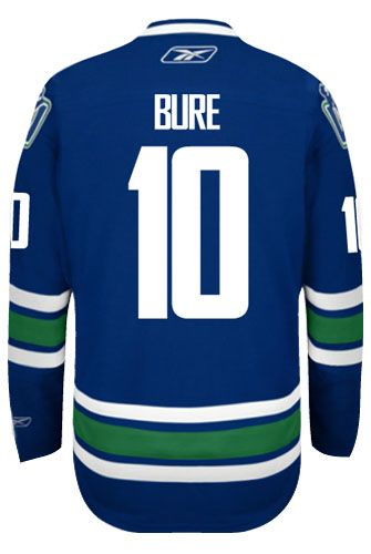 7b52281fb Vancouver Canucks VINTAGE Pavel BURE  10  A  Official Third Reebok Premier  Replica NHL Hockey Jersey (HAND SEWN CUSTOMIZATION)