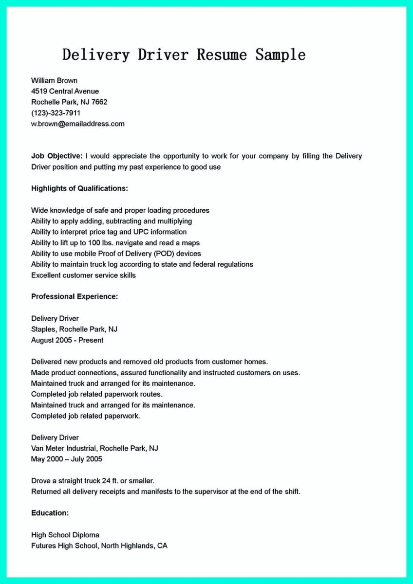 nice simple but serious mistake in making cdl driver resume check more at http