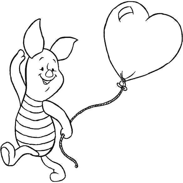 piglet coloring pages Balloons With Piglet Coloring Pages | Stuff to Try | Coloring  piglet coloring pages