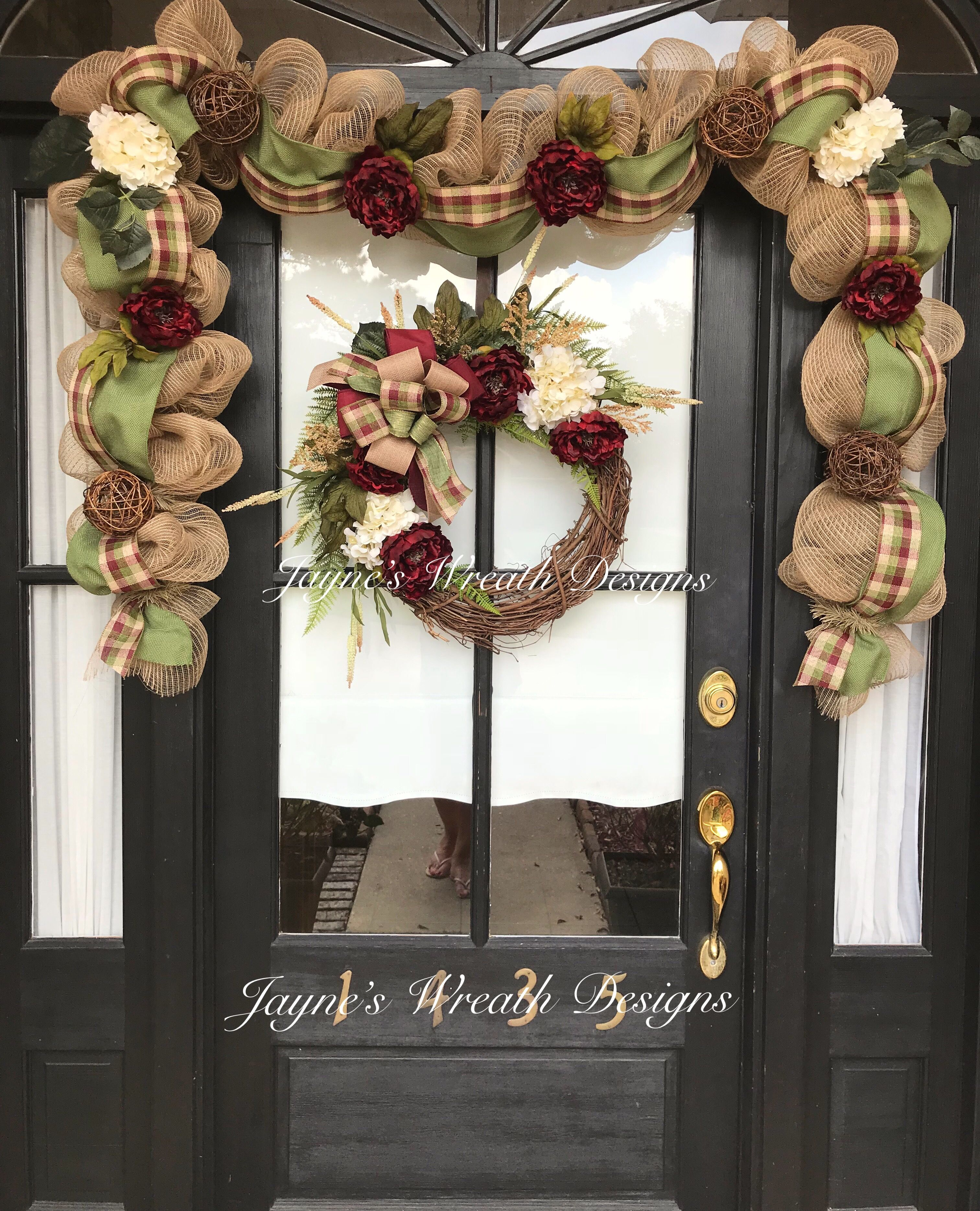Fall or All Year Grapevine Wreath with