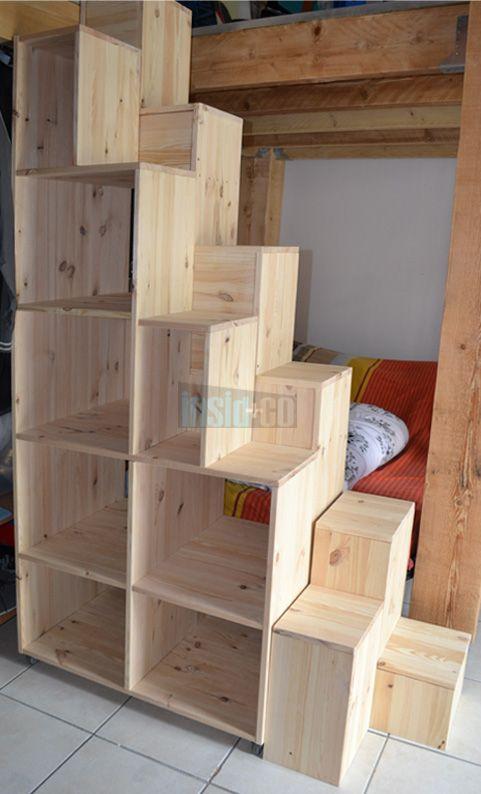 mobilier sur-mesure insid&co Nîmes   Storage Solutions for Tiny Houses   Escalier mezzanine ...
