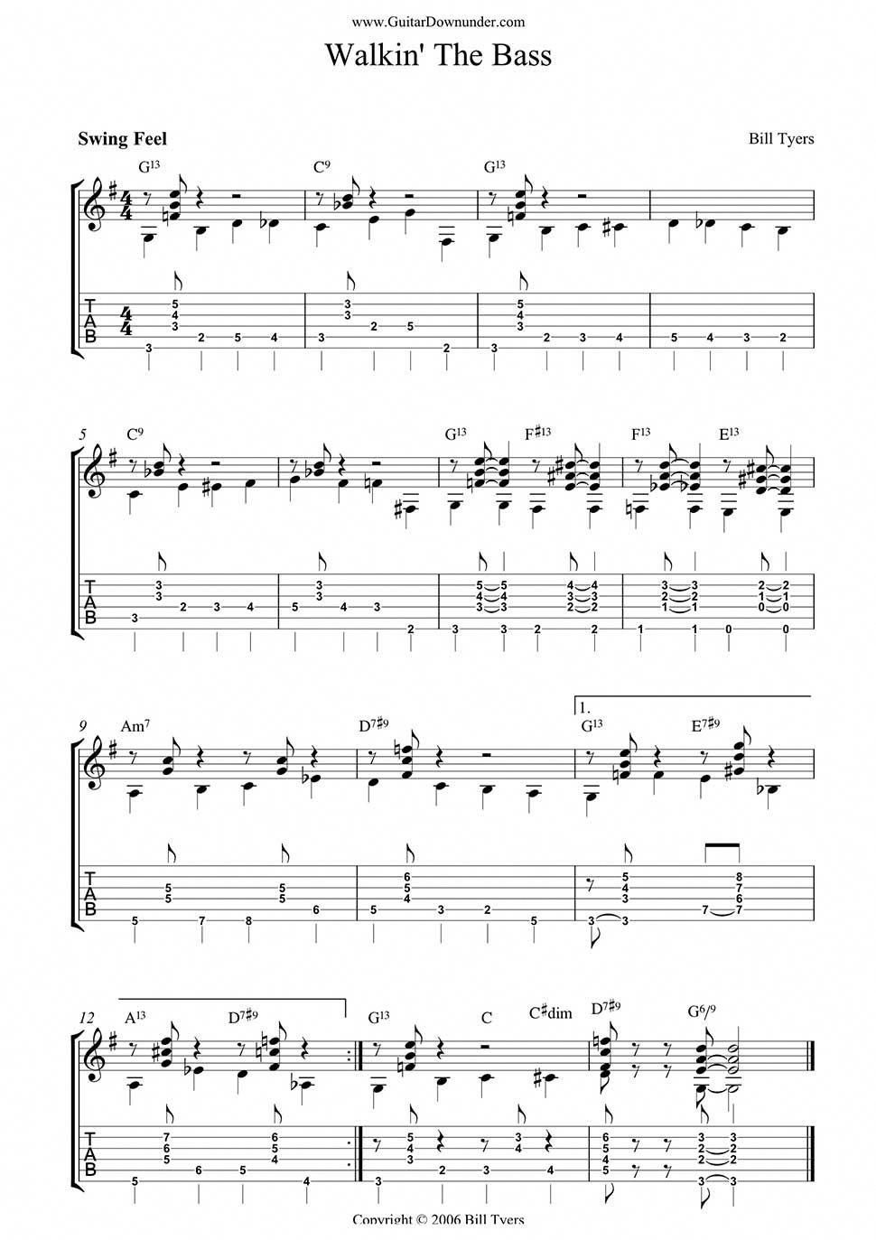 how to read bass guitar tabs symbols