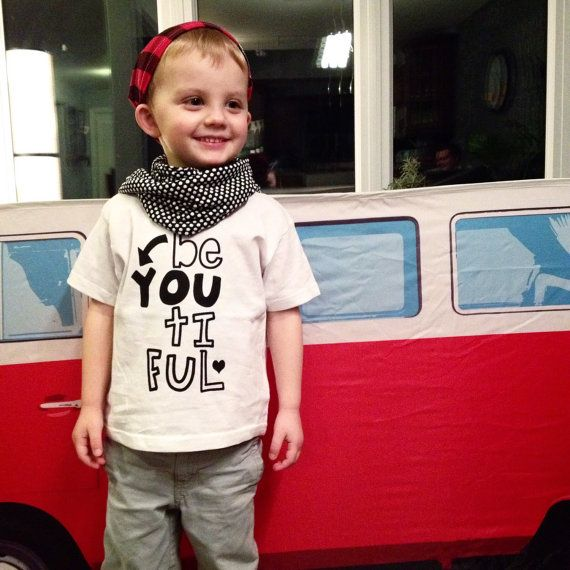 Be-YOU-tiful: White infant and toddler tshirts