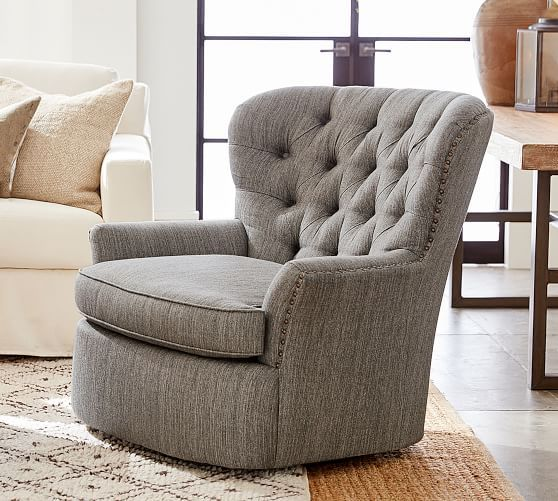 Best Cardiff Upholstered Swivel Armchair Armchair 400 x 300