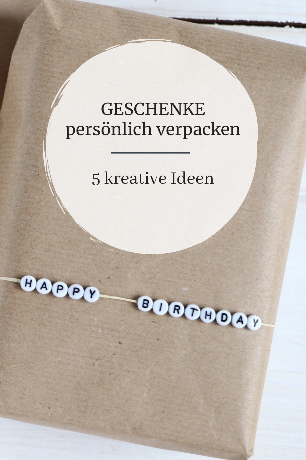 Geschenke verpacken: Ideen mit Packpapier #geschenkeverpacken