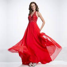 Resultado de imagem para vestido vermelho longo para formatura