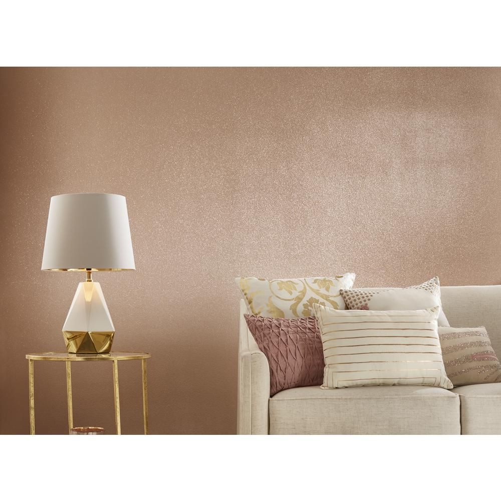Rust Oleum 1 Qt Rose Gold Glitter Interior Paint 2 Pack 344699 The Home Depot Rose Gold Bedroom Gold Painted Walls Rose Gold Wall Paint