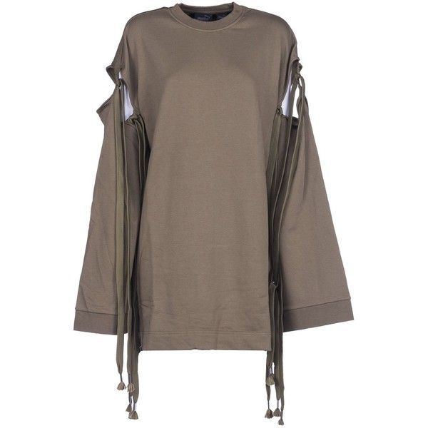 4f64e60b7e4 Puma Fenty by Rihanna Staggered Hem Sweatshirt ( 134) ❤ liked on Polyvore  featuring tops