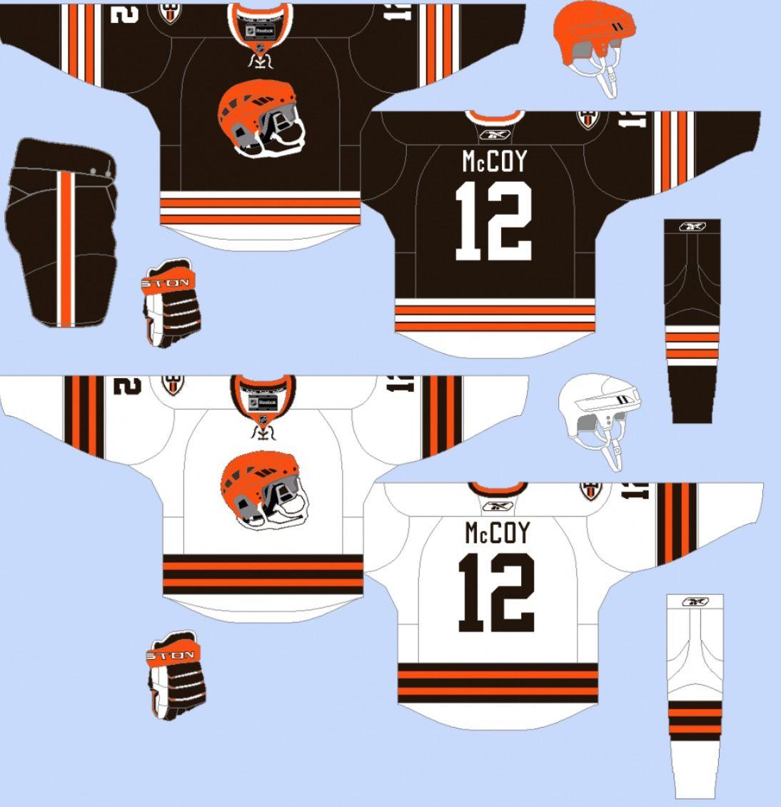 timeless design 1ec6e 08cad Cleveland Browns hockey sweater concept | Sport logos and ...