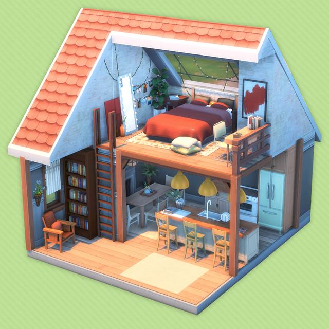 Reddit - Sims4 - 4 bdrm/3 bath family base game home
