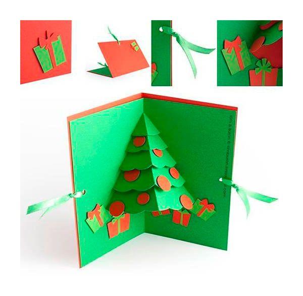 Tarjeta de navidad hecha a mano craft ideas diy - Como hacer tarjetas de navidad faciles ...