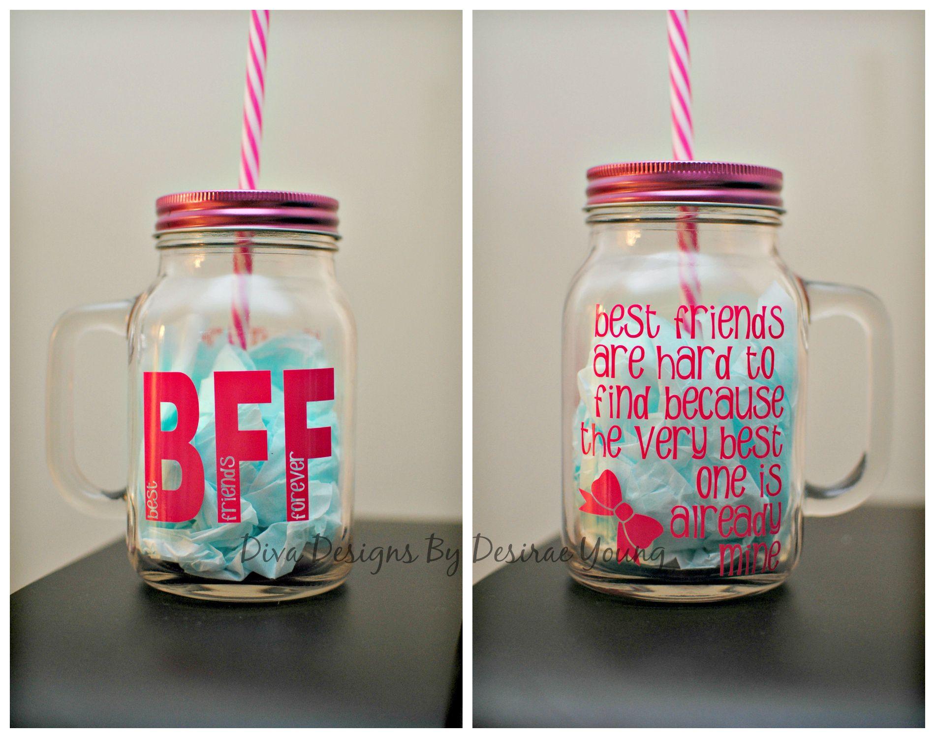 Custom Best Friend Mason Jars Birthday Gift Quote Gifts For Female Friends Presents For Boyfriend