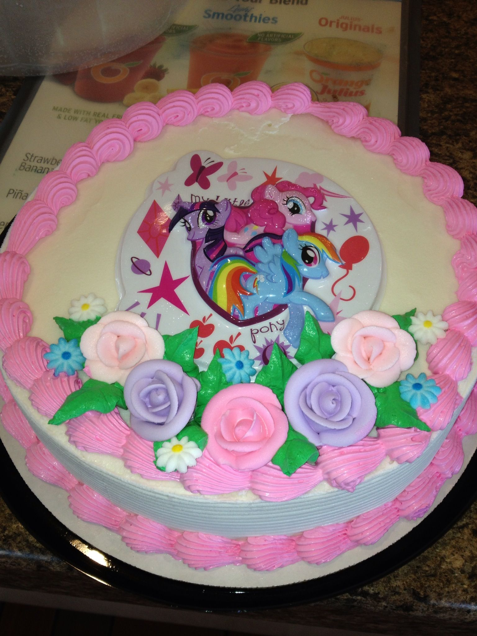 Strange Dq Cakes Dairy Queen My Little Pony Ice Cream Cake Funny Birthday Cards Online Fluifree Goldxyz