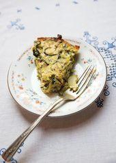 Zucchini Onion and Ricotta Pie Savory Zucchini and Onions Cake  to eat  brunch