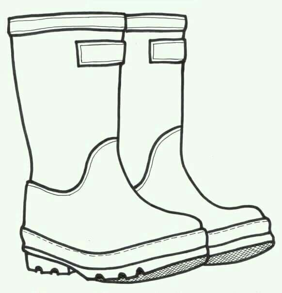 Simple boots drawing Art for