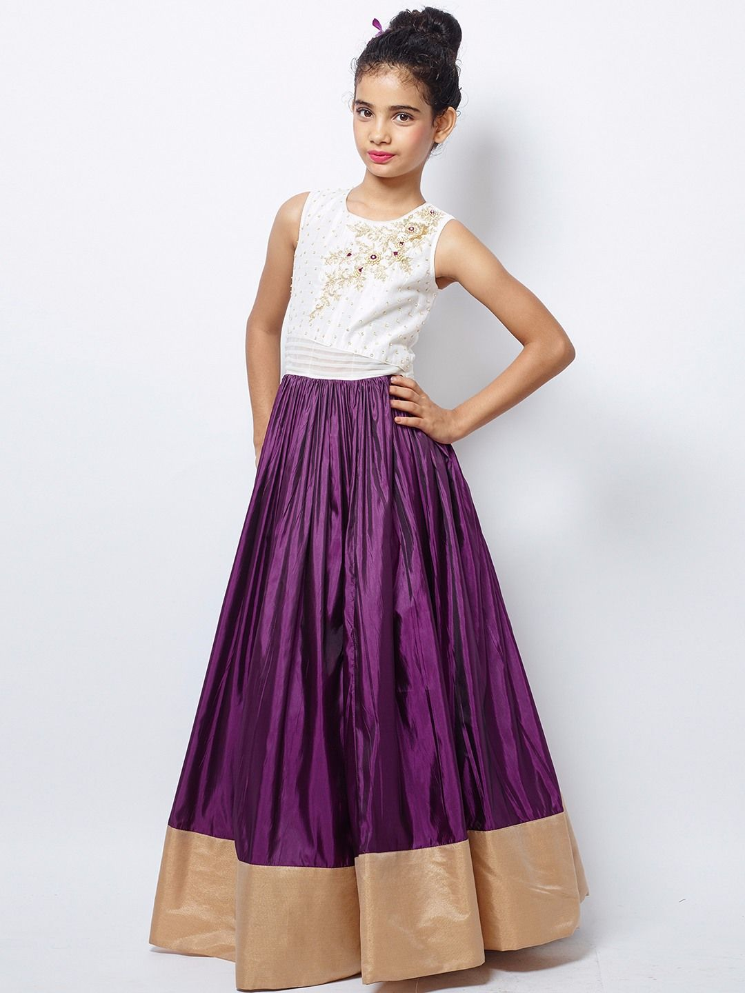 Purple Silk Party Wear Nice Gown | Girls Gown G3 colection | Pinterest