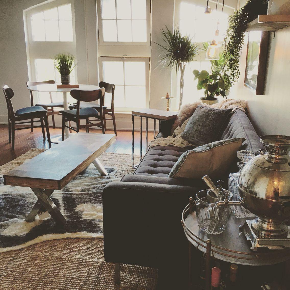 Green Rug For Living Room: Green Living Room, Boho Living Room, Large Windows, Boho