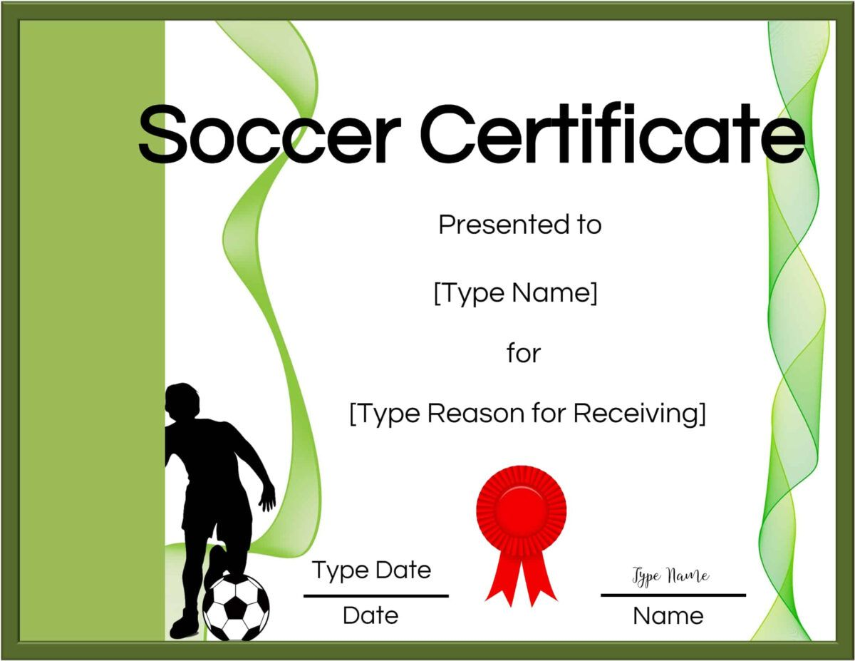 Free Soccer Certificate Maker Edit Online And Print At Home Throughout Soccer Certifica Certificate Template Certificate Templates Free Certificate Templates Free soccer certificate templates for word