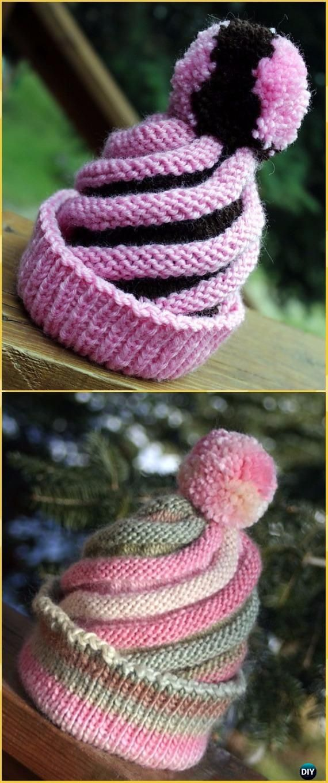 Knit Swirled Ski Cap Hat Free Pattern - Knit Beanie Hat Free ...