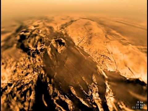 Particolare della superficie di Titano una della Lune di Saturno