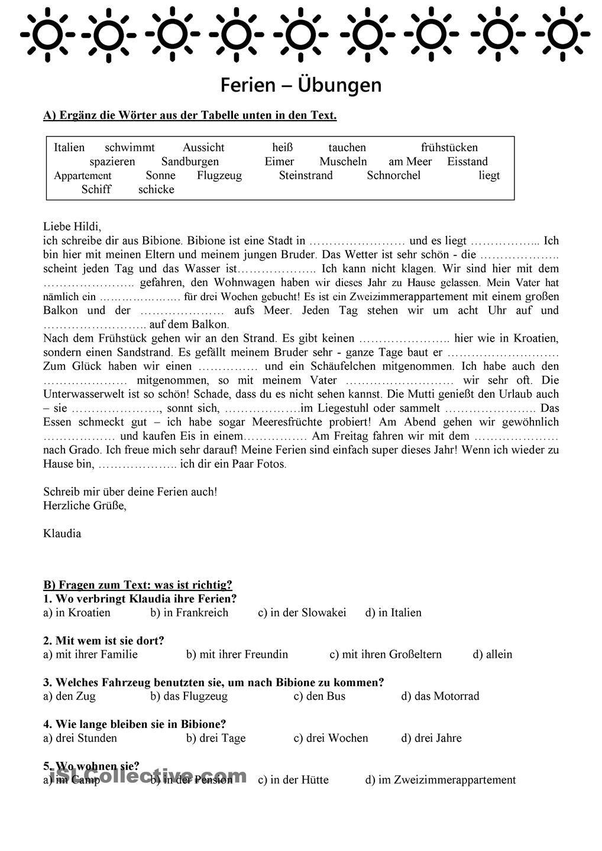 Ferien | German, German language and Language