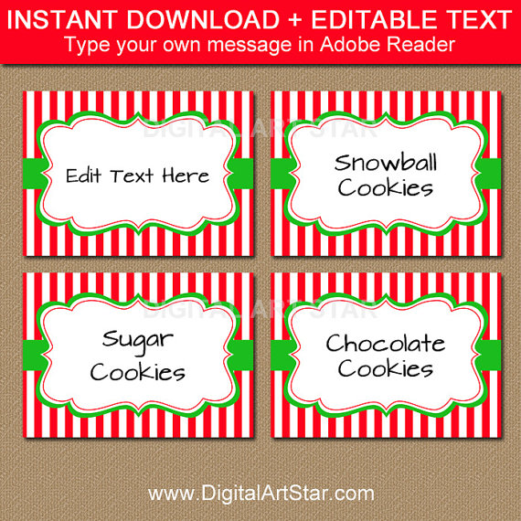 Christmas Candy Buffet Labels Tent Cards Place Cards Decor Etsy Christmas Food Labels Christmas Candy Buffet Candy Buffet Labels