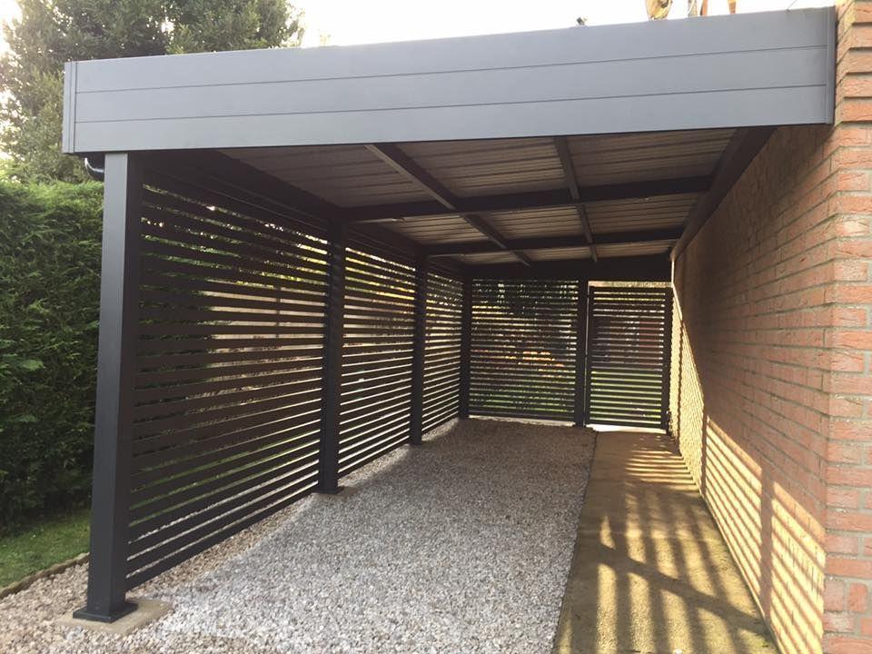 Abri Adosse Alu Aluminium Carport Voiture In 2020 Modern Carport Carport Designs House Exterior
