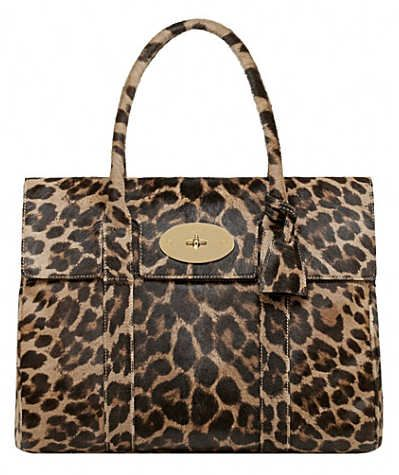 1663f40327b6 Mulberry Leopard Hair Calf Bayswater Bag is made from calf hair leather,  and is a