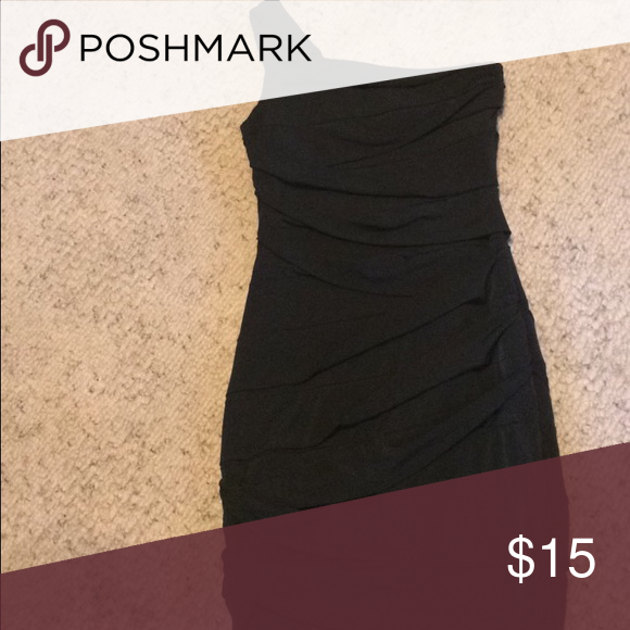 Little Black Dress Black dress, one strap. Only worn once Dresses Mini