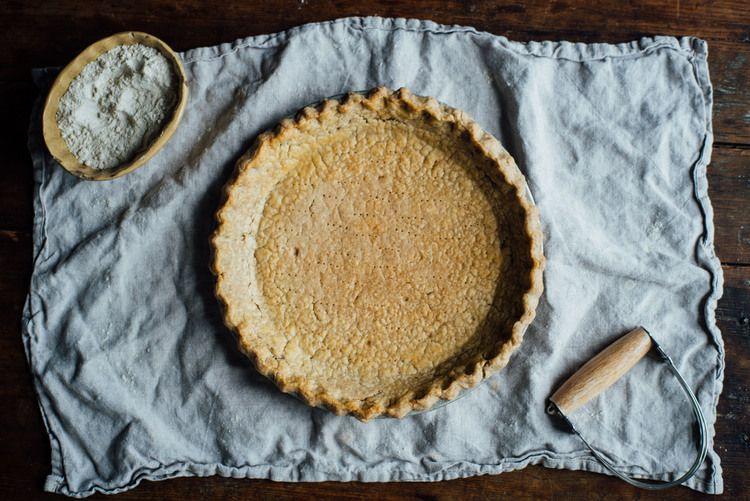 how to make whole grain gluten free + vegan pie crust ...