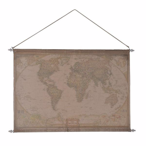 Fabric hanging world map fabric hanging printed world map classy fabric hanging world map fabric hanging printed world map classy wall hanging easy and light to put up so can be attached to even the most difficult of gumiabroncs Gallery