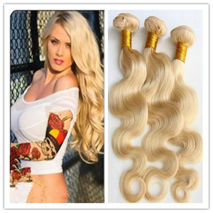 Cheap Bleach Blonde Color 613 Brazilian Virgin Hair Body Wave 3pcs