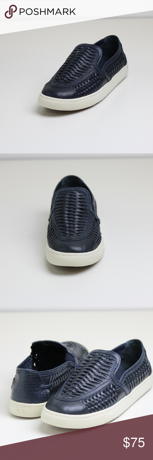 b6899cb68e1f Tory Burch Navy Huarache Slip-On Sneakers Show off your stand out style in  these unique woven leather slip-on sneakers from Tory Burch. Tory Burch  Shoes ...