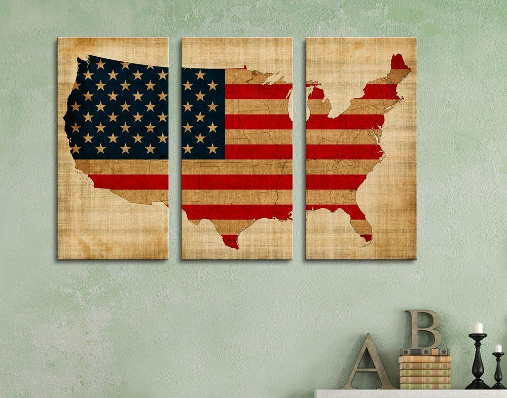 Amazon.com: Wall26 - Canvas Prints Wall Art - 3 Panel Vintage ...