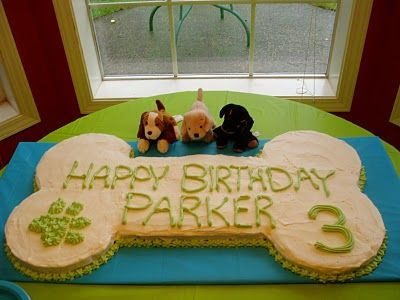 Memories Of Cakes Gone By Puppy Birthday Dog Bone Cake Paw