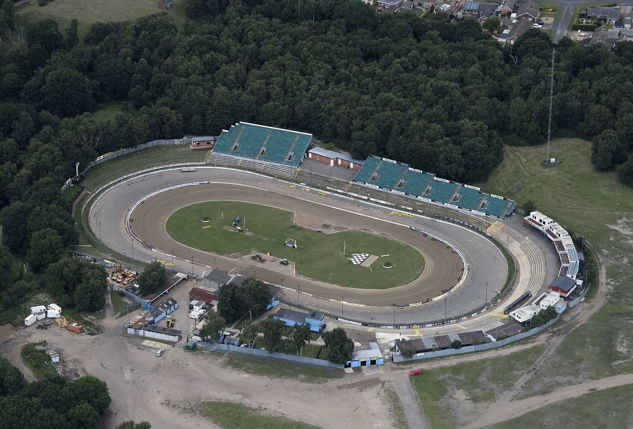 Ipswich Foxhall Stadium Suffolk Aerial Race Car Track Ipswich Suffolk