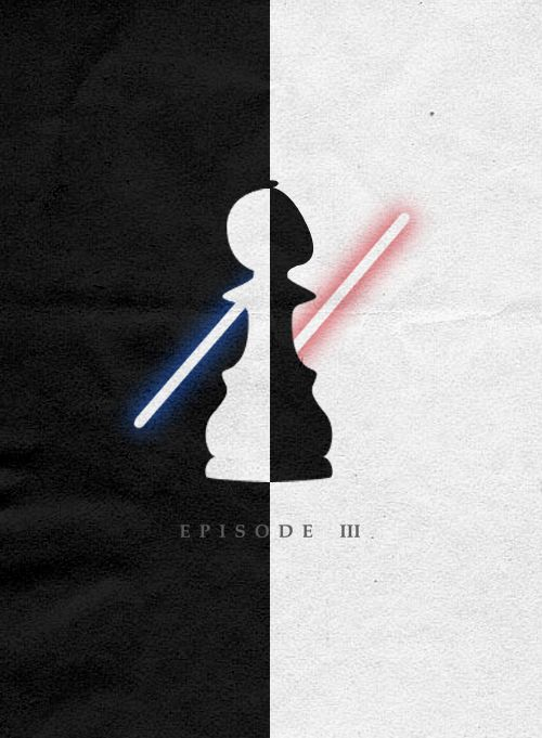 Star Wars Episode 3 Revenge Of The Sith Minimalist Movie Poster Cartaz Filmes Poster