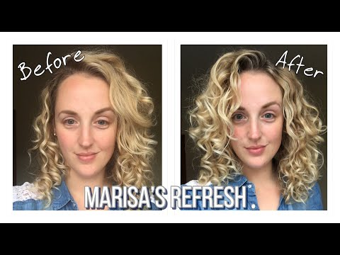 How To Refresh Curly Hair Between Washes Marisa S Refresh Youtube Curly Hair Styles Gel Curly Hair Different Curls