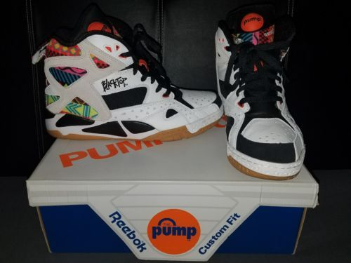 fdb6ddc6b0d8 Reebok Pump Blacktop Battleground Tribal Aztec White Black Men Cant Jump sz  11