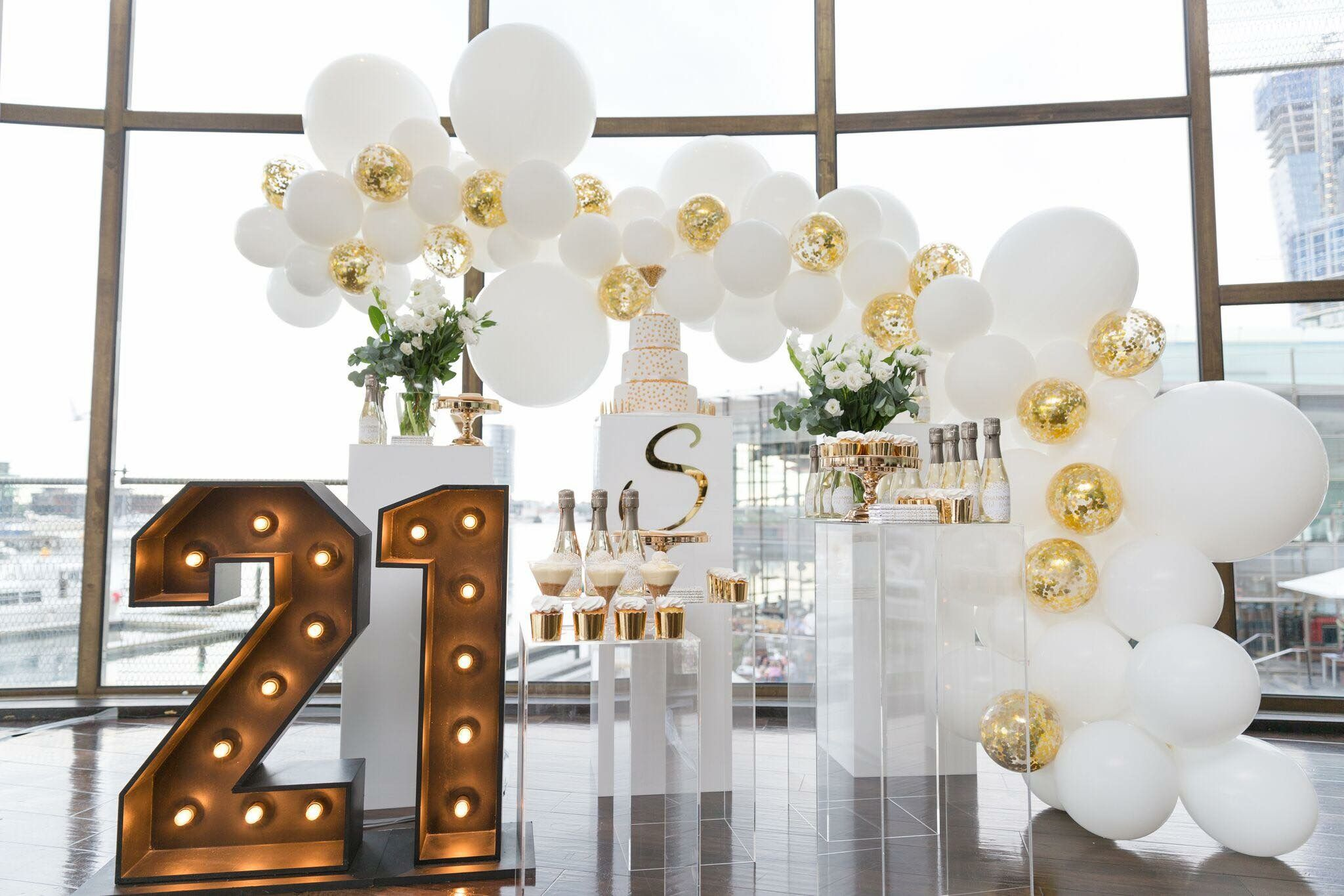 On The Weekend We Hosted Shannon S 21st Theme Was White And