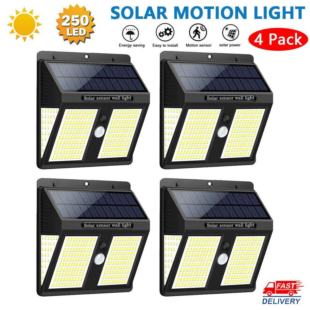 Super 250 Led Solar Power Lights Outdoor Pir Motion Sensor Garden Wall Lamp In 2020 Solar Powered Lights Motion Sensor Lights Outdoor Solar Lamp