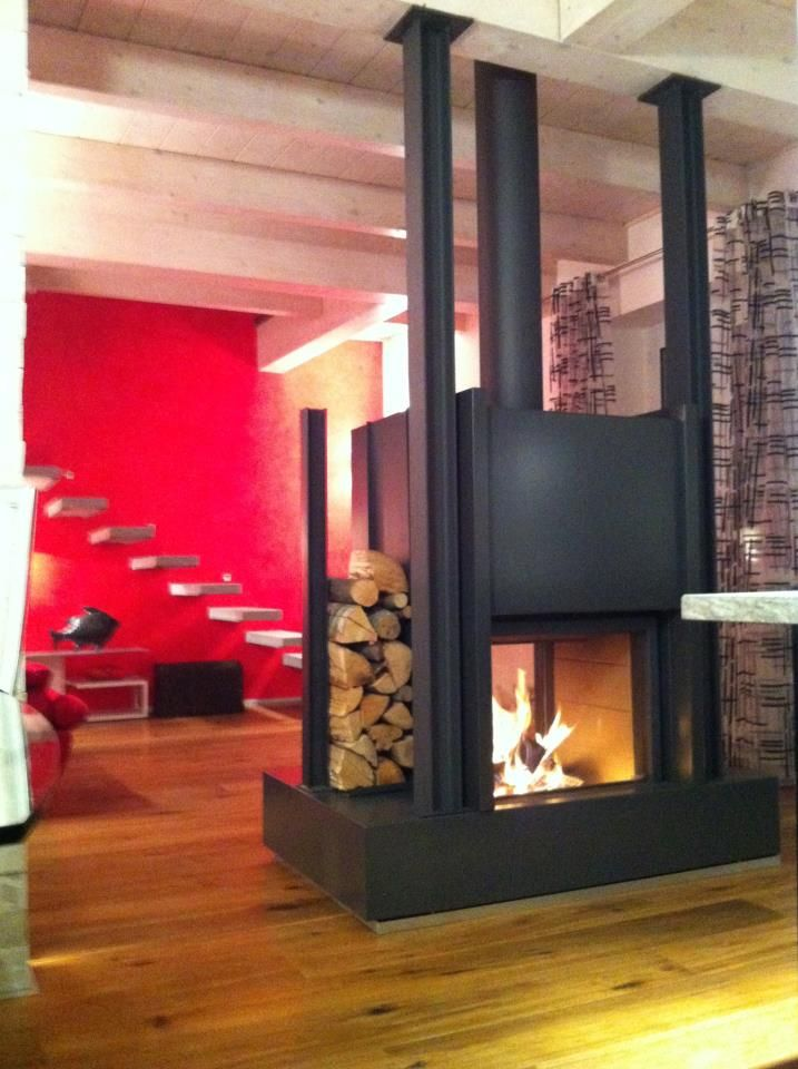 Stûv 21/75 DF by Tekno Fuoco srl | fireplace in the living room ...