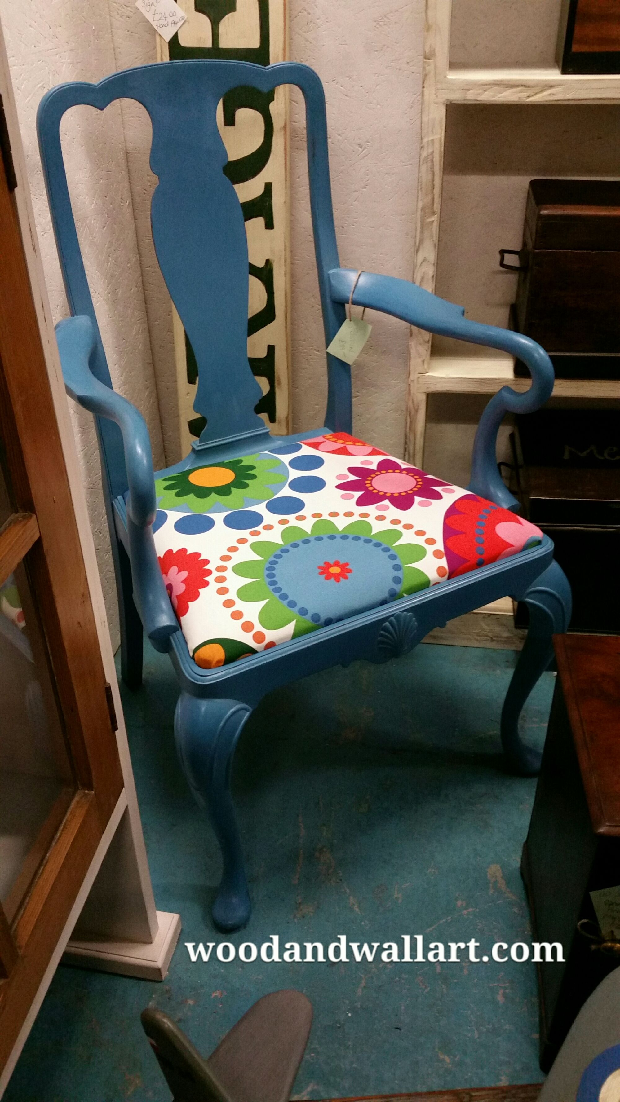 Interesting Queen Ann style chair with a funky 21century look