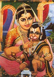 Anjana Devi Naimisharanya | Bal hanuman, Hanumanji, Hanuman