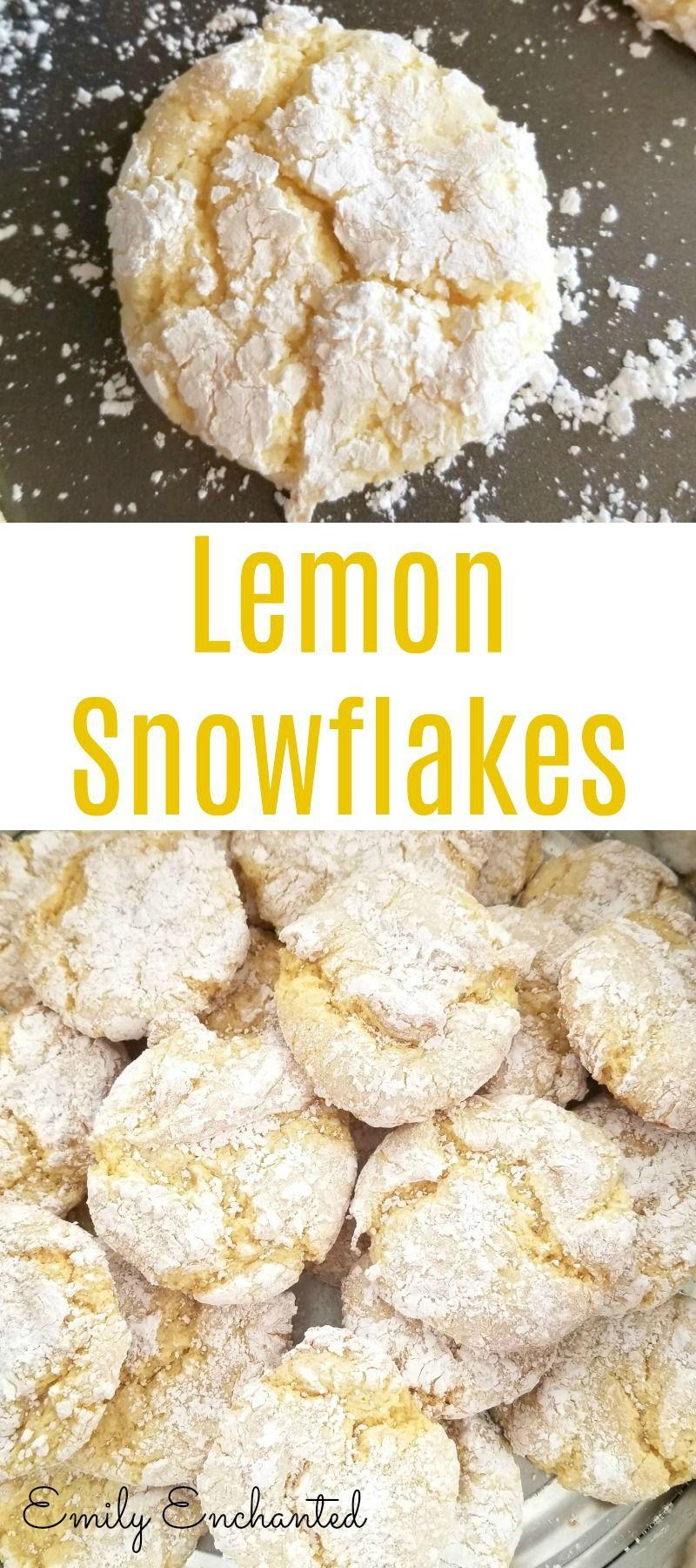 Lemon Snowflakes Cookie Recipe   Christmas Cookies